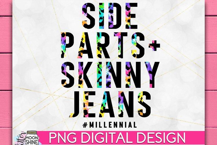 Side Parts & Skinny Jeans Tie Dye Leopard PNG Sublimation