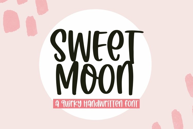 Web Font Sweet Moon - A Quirky Handwritten Font example image 1
