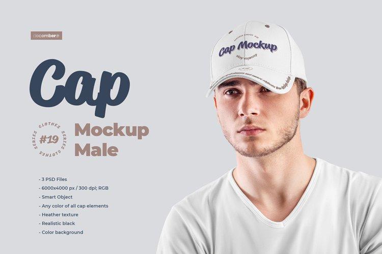 3 Mockups Mens Cap