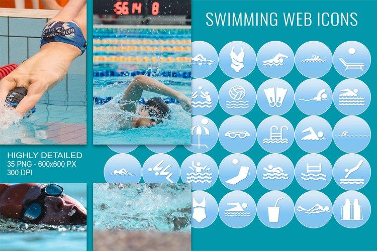35 Swimming Web Communication Icons Set example