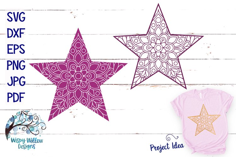 Star Mandala SVGs example