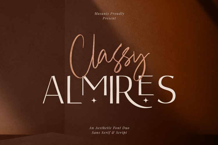 Classy Almires - Font Duo example image 1