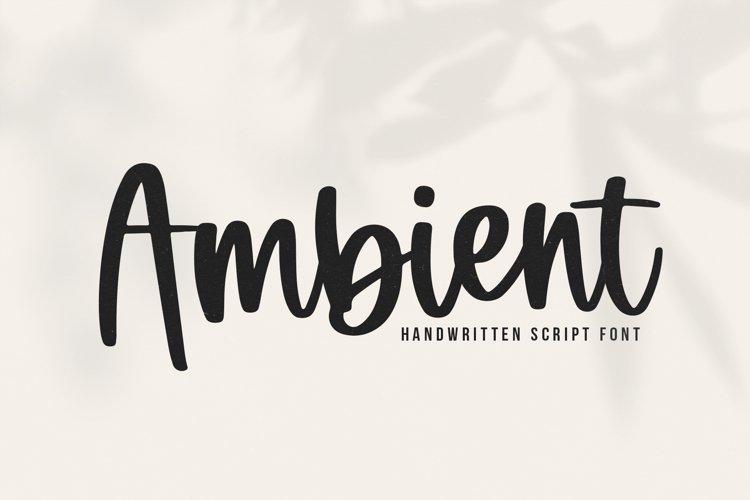 Ambient - A Handwritten Script Font