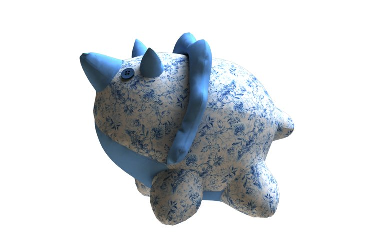 Triceratops PDF Plush Pattern Resizing example image 1