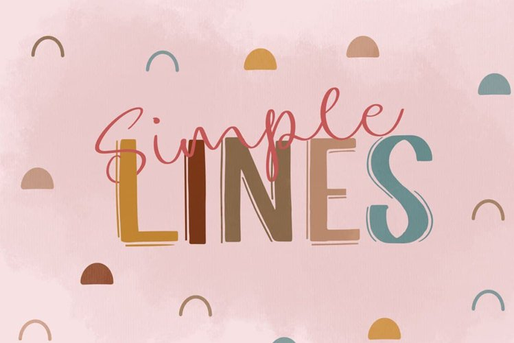 Simple Lines Font Duo example image 1