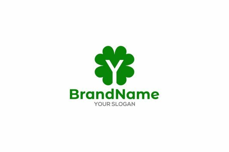 Y Leaf Logo Design Vector example image 1