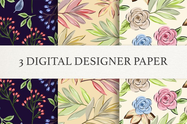 Set of 3 High Quality Digital Papers