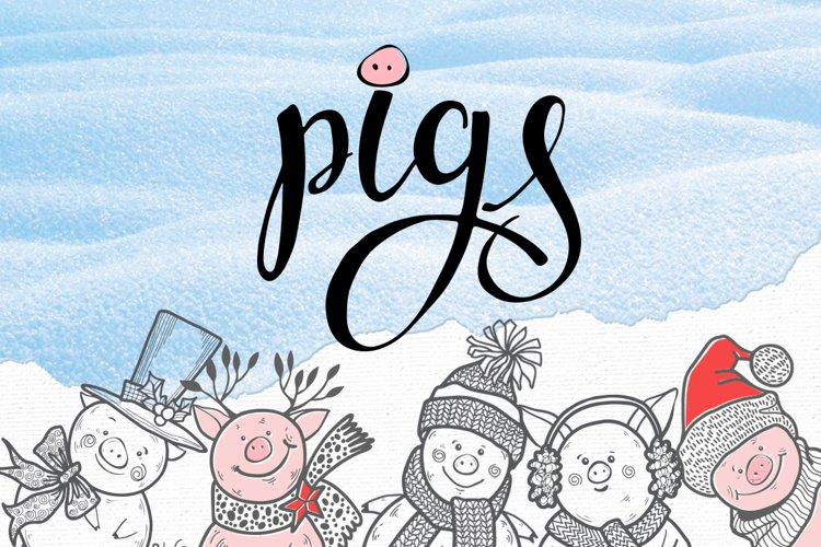 Winter pigs example image 1