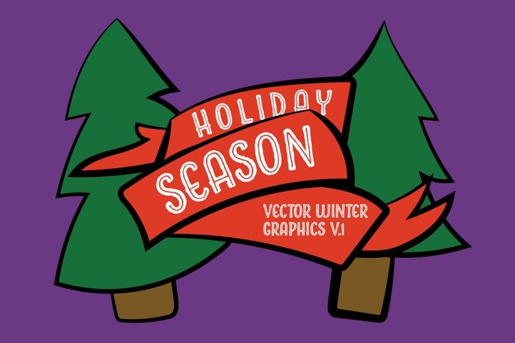 Holiday Season Vector Graphics V1