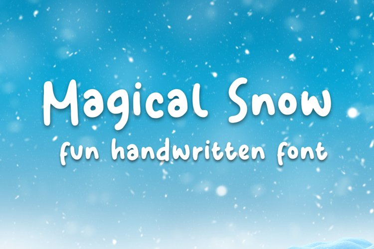 Magical Snow - Handwritten Font example image 1