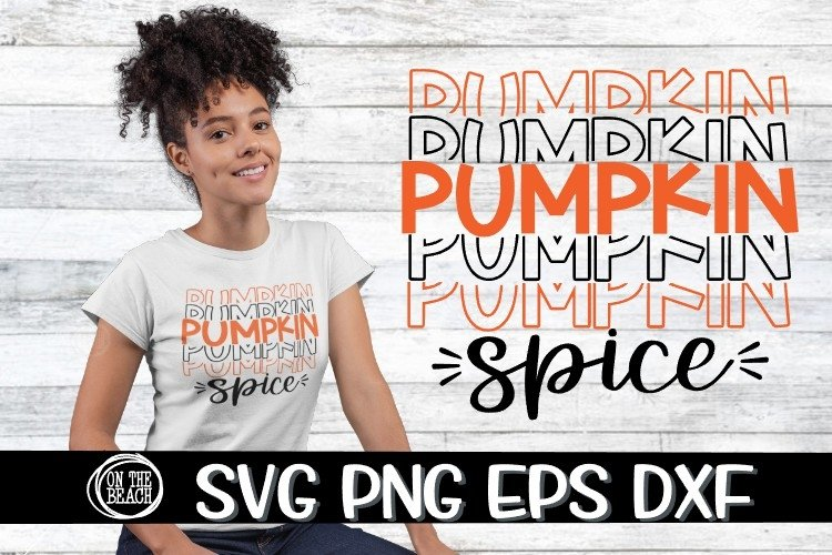 SVG - Pumpkin Spice - SVG PNG EPS DXF example image 1