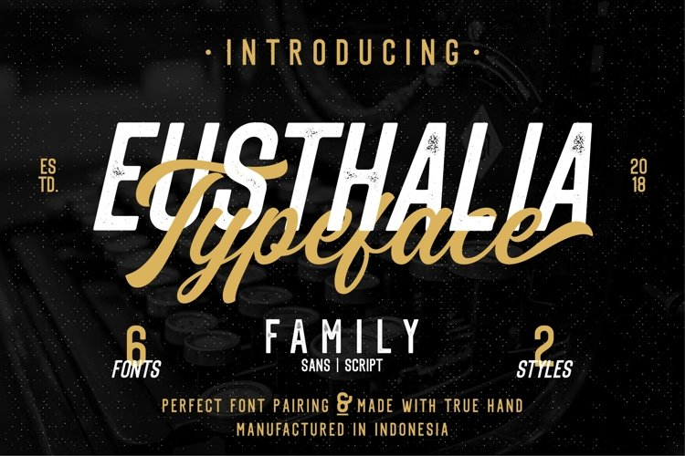 Eusthalia Font Family example image 1