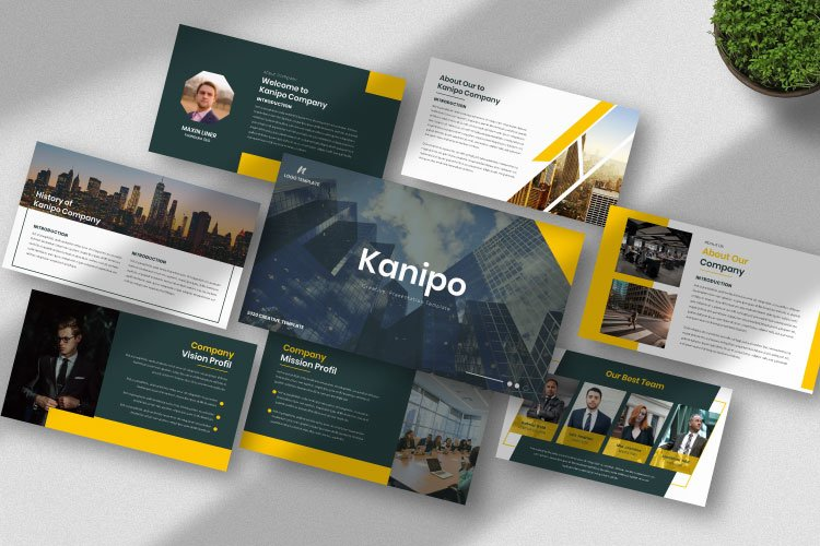 Kanipo-Business Powerpoint Template example image 1