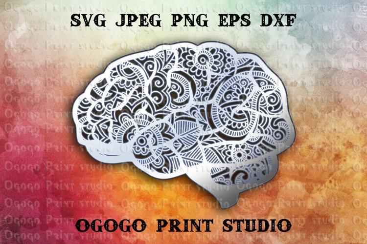 Brain Svg, Back to School SVG, Zentangle SVG, Mandala svg