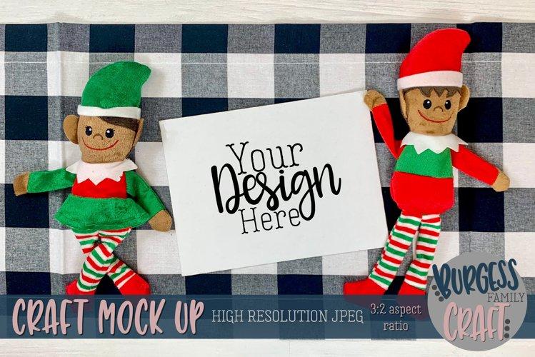 Christmas elf with horizontal certificate III |Craft mock up