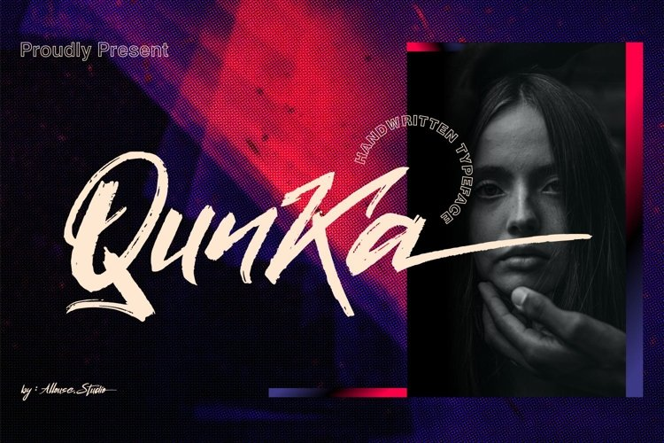 Qunka - Handwritten Typeface Font example image 1