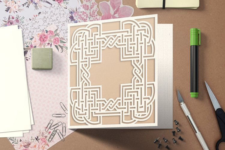 SVG Celtic Knot Greeting Cards for Cricut & Silhouette.