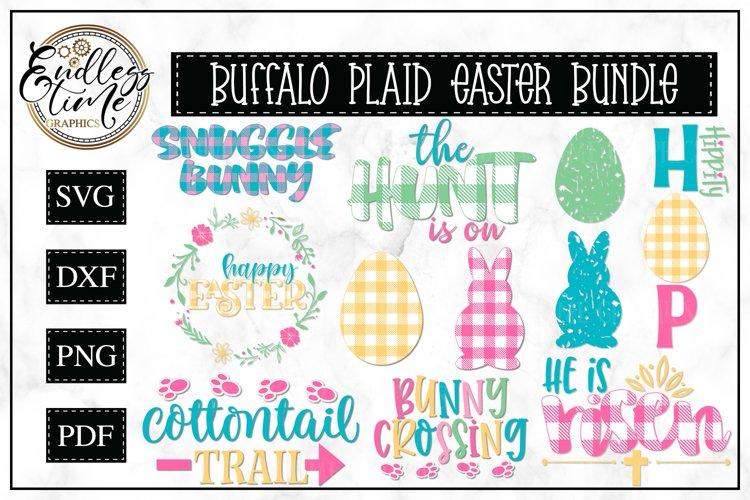 Easter Bundle - 11 Buffalo Plaid SVG or Sublimation Designs example image 1