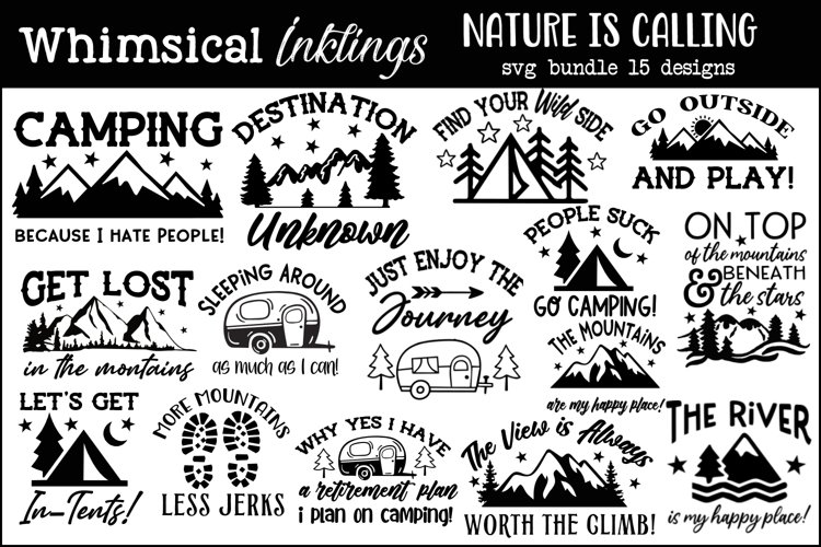Nature Is Calling Bundle-15 Designs example image 1