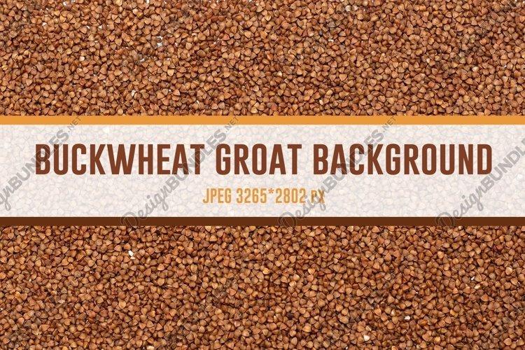 Buckwheat groat background example image 1