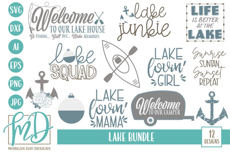 Vacation - Camping - Summer - Lake Bundle SVG - Free Design of The Week