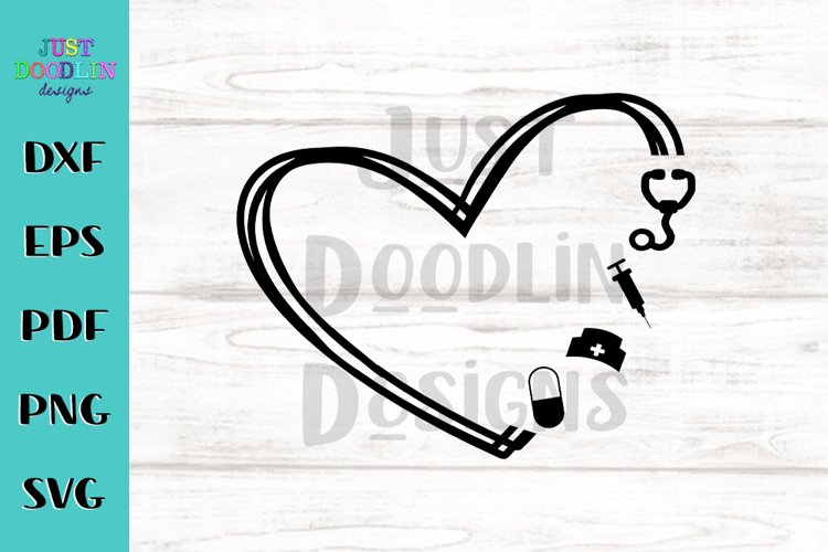 Free SVG Love Svg Nurse for Cricut