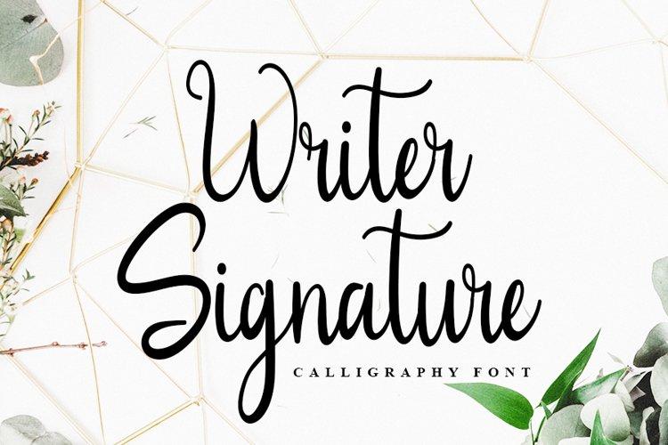 Writer Signature | Calligraphy Font example image 1