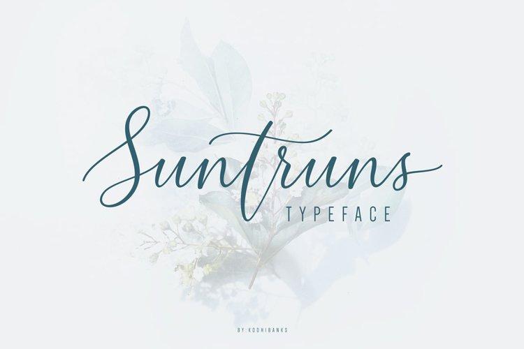 Suntruns Typeface example image 1
