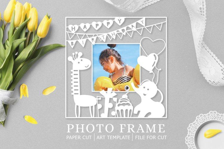Photo Frame / Paper cut / Happy Birthday