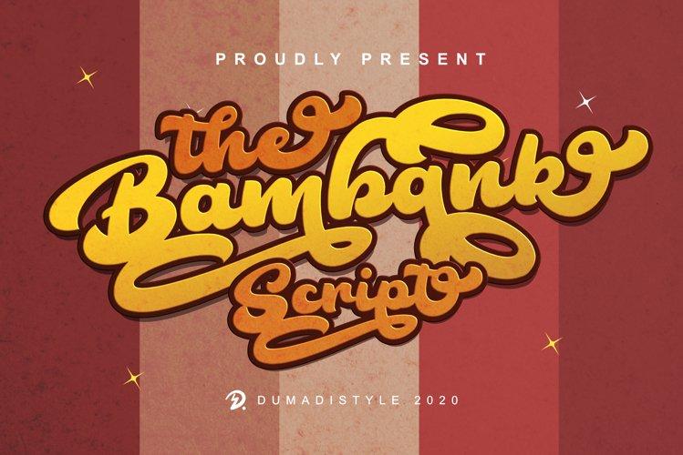 The Bambank Script - Retro example image 1