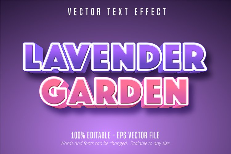 Lavender garden text effect, editable font style example image 1