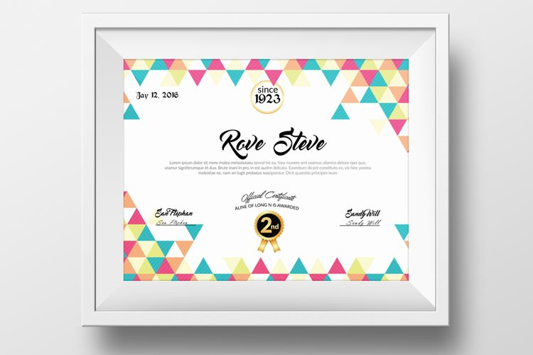 Clean Diploma Certificate Template example image 1