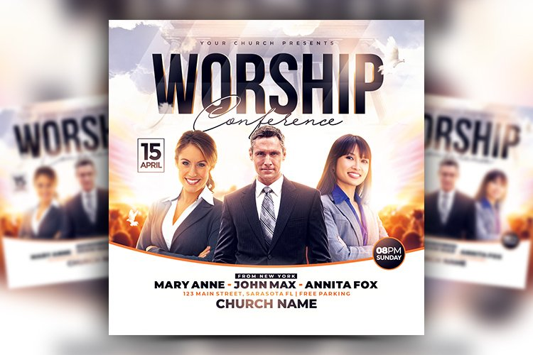 Worship Conference Flyer example image 1