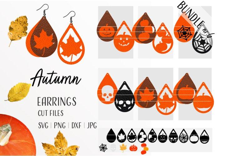Autumn Earrings Bundle / Leather / Faux / Wood / Laser