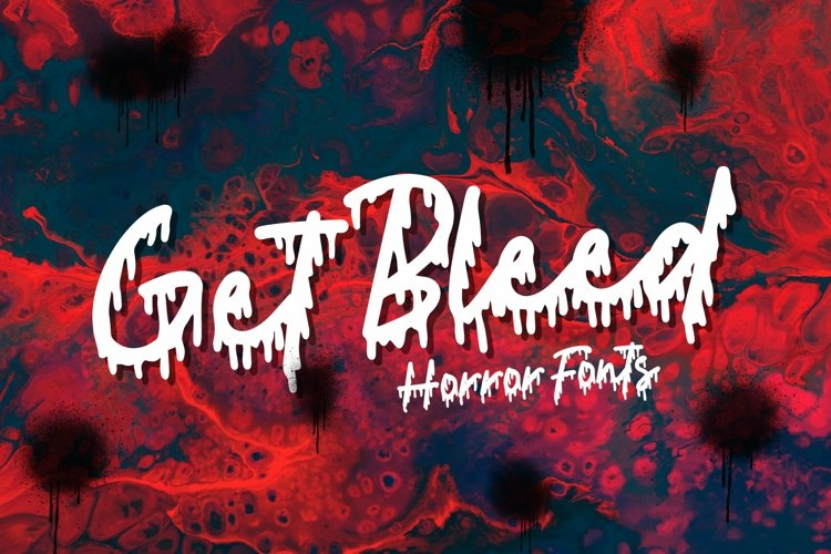 Web Font Get Bleed - Horror Fonts example image 1