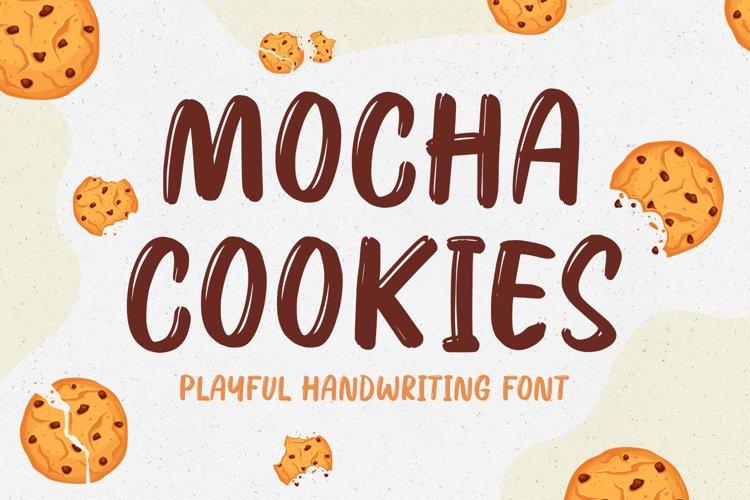 Fun Handwritten Font - Mocha Cookies example image 1