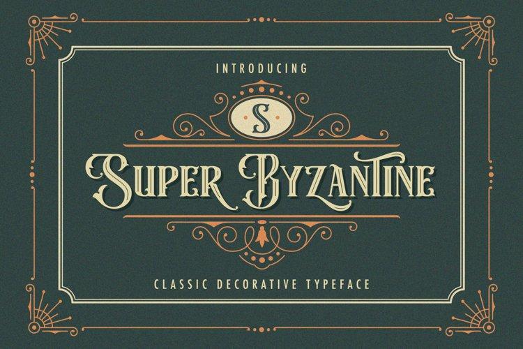 Super Byzantine - Decorative Font example image 1