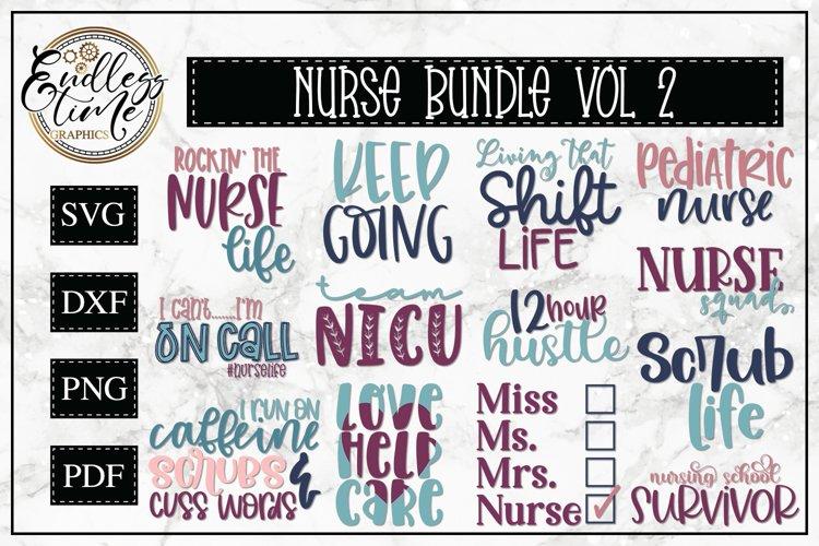 Nurse SVG Bundle Vol 2- An SVG Bundle for Frontline Warriors example image 1