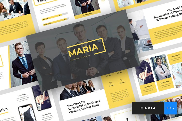 Maria - Pitch Deck & Business Keynote Template example image 1