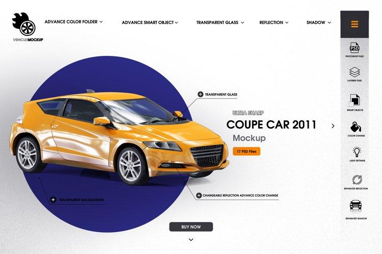 Coupe car 2011 mockup