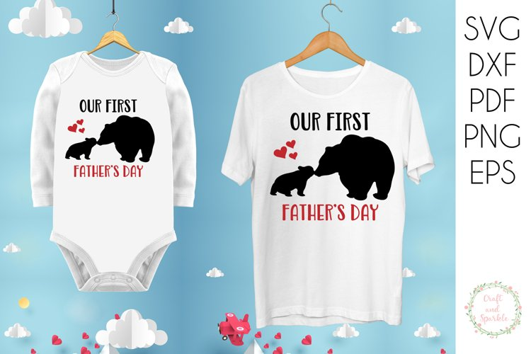 Our First Fathers day - Father Son Daughter svg