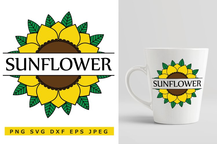 Sunflower SVG Cut File example image 1