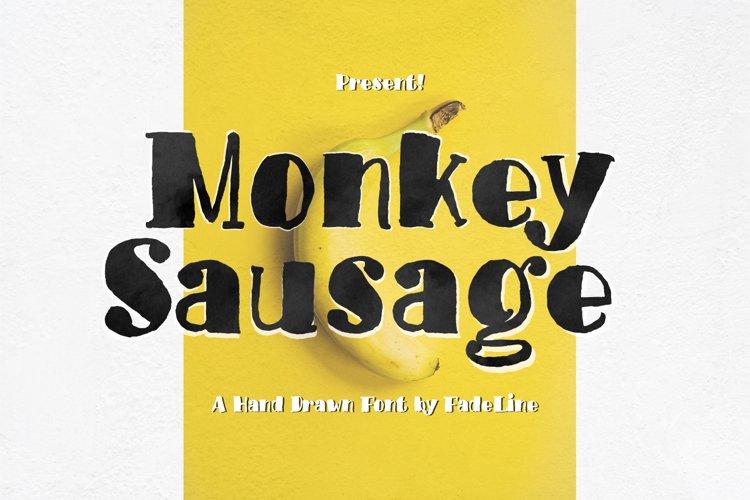 Monkey Sausage! Funny Font example image 1