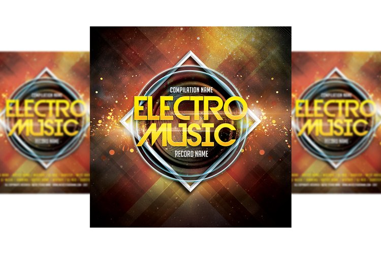 Music Party CD Cover Template