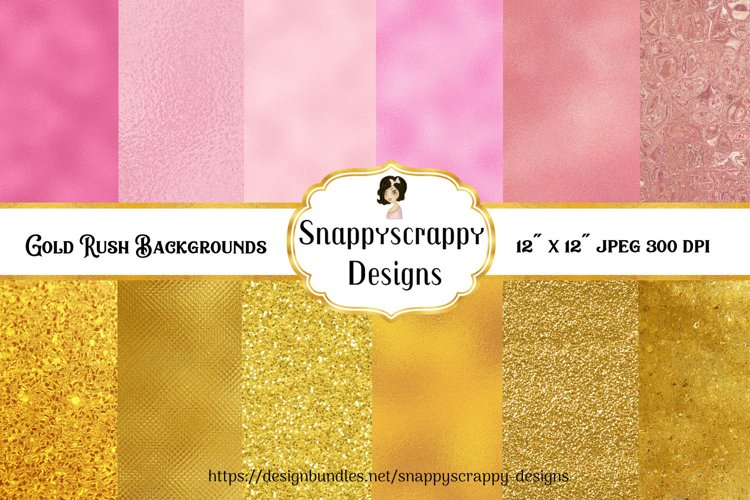 Gold Rush Background Papers example image 1