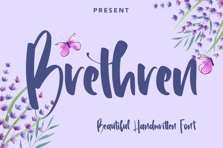 Brethren - Beautful Handwritten Font example image 1