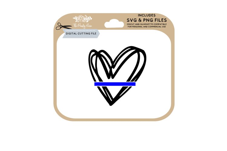 Thin Blue Line SVG example image 1