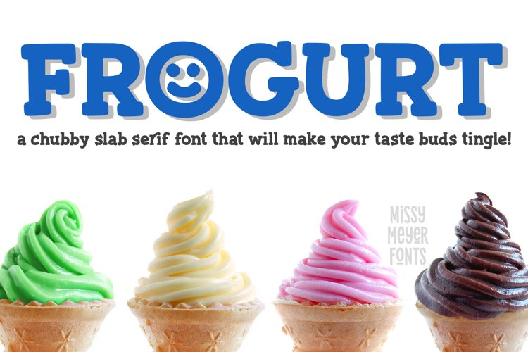 Frogurt - a fat and fun slab serif font! example image 1
