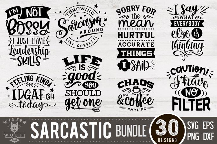 Sarcastic Bundle 30 designs SVG EPS DXF PNG example image 1