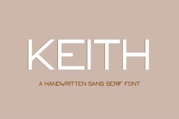 Web Font Keith - a modern sans serif font example image 1